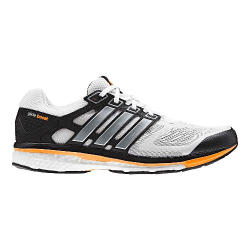 Mens adidas Supernova Glide 6 Boost Running Shoe - White/Black 11.5