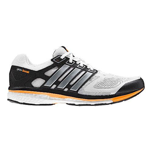 Mens adidas Supernova Glide 6 Boost Running Shoe - White/Black 8.5