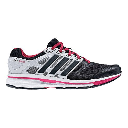 Womens adidas Supernova Glide 6 Boost Running Shoe - Black/White 7.5