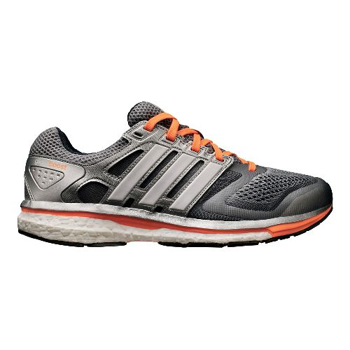 Womens adidas Supernova Glide 6 Boost Running Shoe - Grey/Orange 6.5