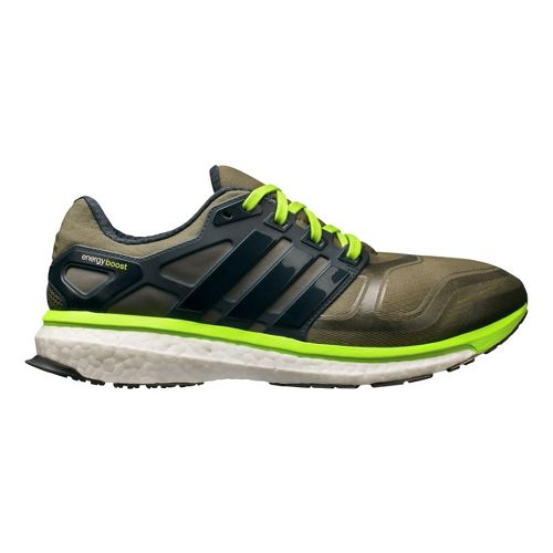 Mens adidas Energy Boost 2 Running Shoe - Earth Green 14