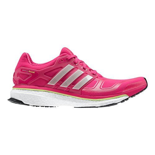 Womens adidas Energy Boost 2 Running Shoe - Berry/Grey 7.5