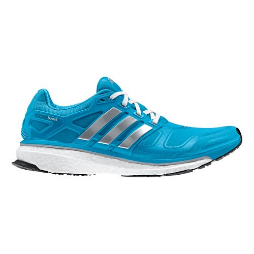 Womens adidas Energy Boost 2 Running Shoe - Blue/Grey 10.5