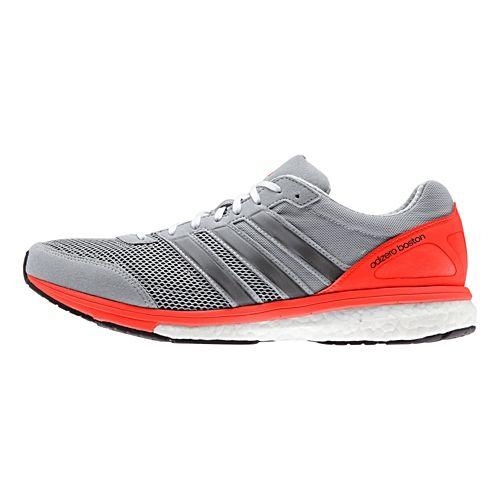 Mens adidas Adizero Boston 5 Boost Running Shoe - Clear Onix/Solar Red 7