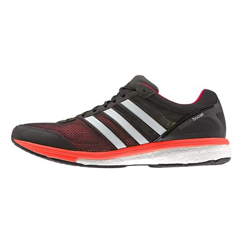 Mens adidas Adizero Boston 5 Boost Running Shoe - Black/Red 8.5