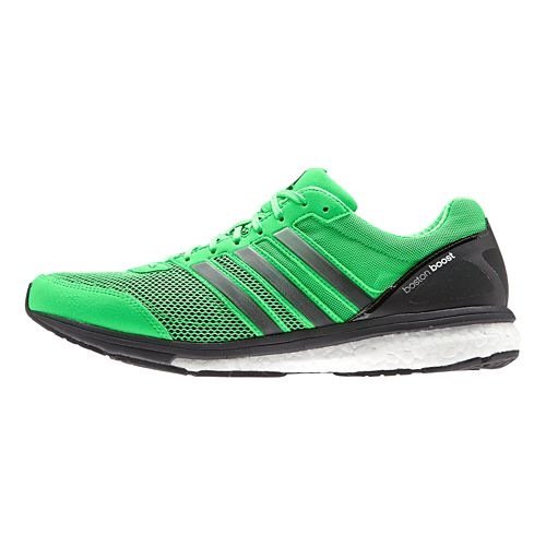 Mens adidas Adizero Boston 5 Boost Running Shoe - Green/White 7.5