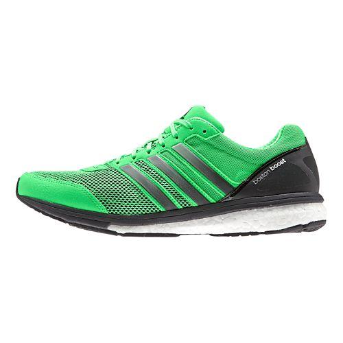 Mens adidas Adizero Boston 5 Boost Running Shoe - Green/White 8