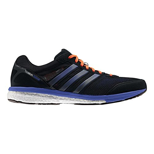 Mens adidas Adizero Boston 5 Boost Running Shoe - Black/Purple 12.5