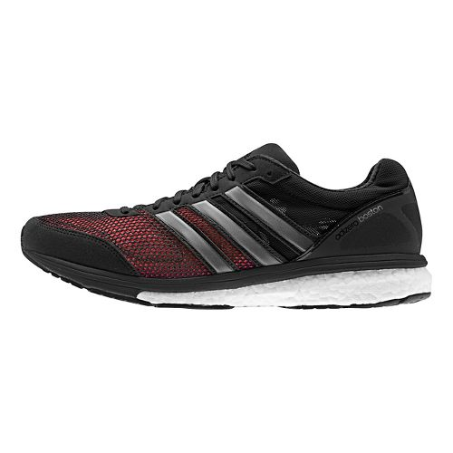 Mens adidas Adizero Boston 5 Boost Running Shoe - Black/Red 12