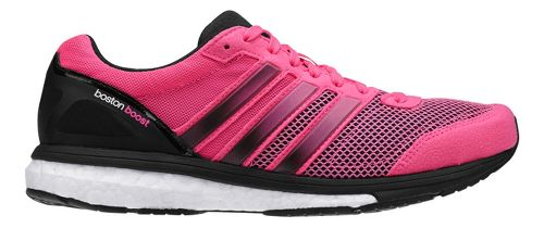 Womens adidas Adizero Boston 5 Boost Running Shoe - Neon Pink/Black 10.5