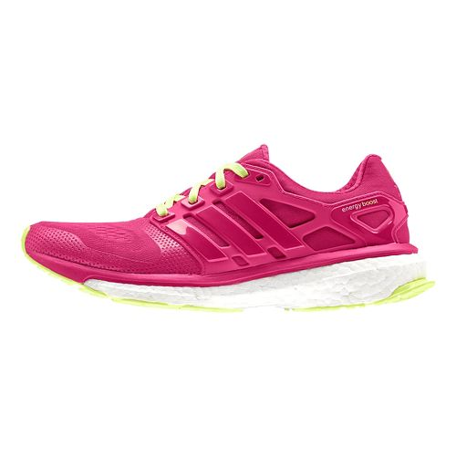 Womens adidas Energy Boost 2 ESM Running Shoe - Pink/Yellow 12