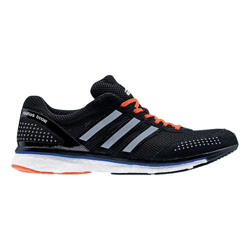 Mens adidas Adizero Adios Boost 2 Running Shoe - Black/White 13