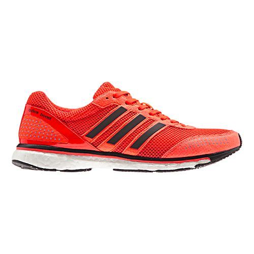 Mens adidas Adizero Adios Boost 2 Running Shoe - Red/Black 9.5