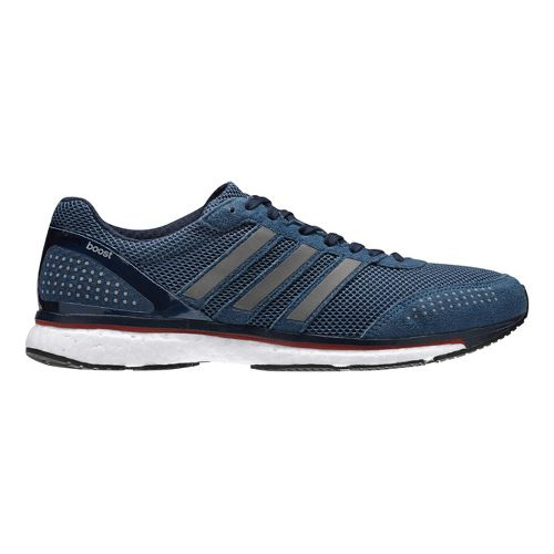 Mens adidas Adizero Adios Boost 2 Running Shoe - Navy/Grey 10