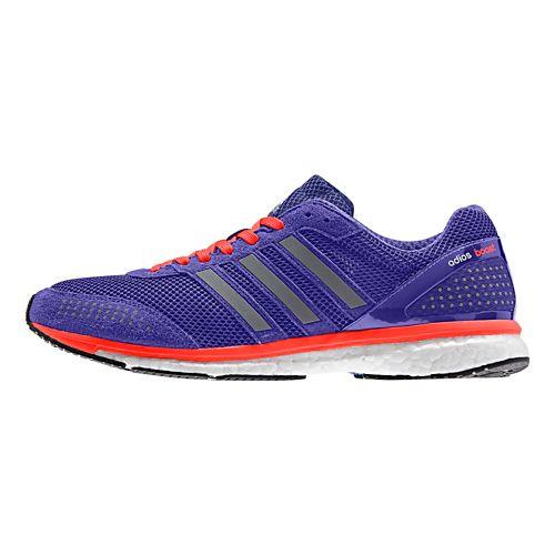 Mens adidas Adizero Adios Boost 2 Running Shoe - Purple/Red 8.5