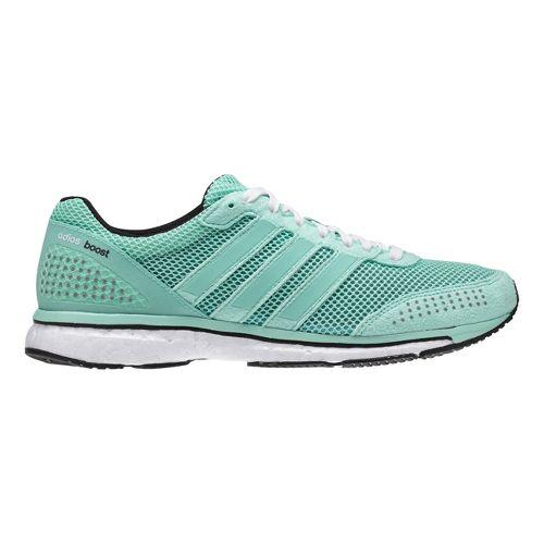Womens adidas Adizero Adios Boost 2 Running Shoe - Frost/Black 10