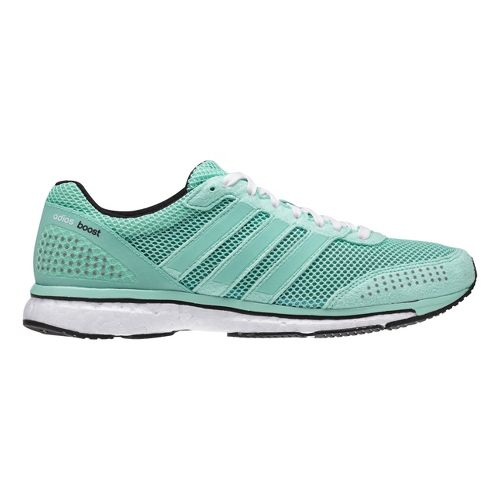 Womens adidas Adizero Adios Boost 2 Running Shoe - Frost/Black 6.5