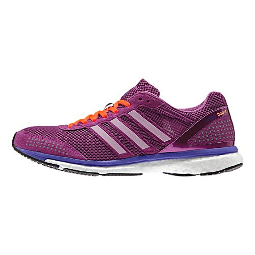 Womens adidas Adizero Adios Boost 2 Running Shoe - Raspberry/Grey 11