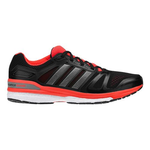 Mens adidas Supernova Sequence 7 Boost Running Shoe - Black/Red 8.5