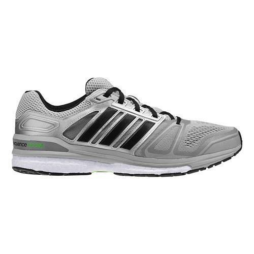 Mens adidas Supernova Sequence 7 Boost Running Shoe - Silver/Black 11.5