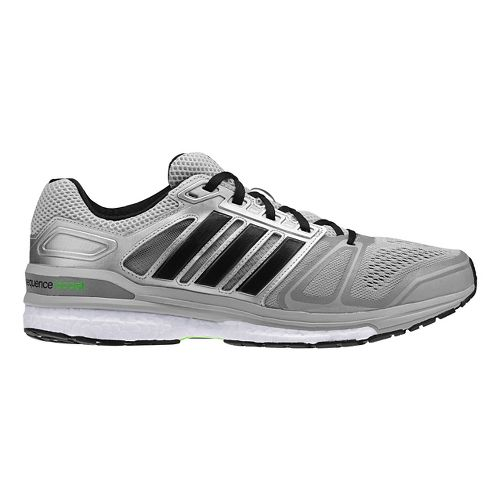 Mens adidas Supernova Sequence 7 Boost Running Shoe - Silver/Black 12.5