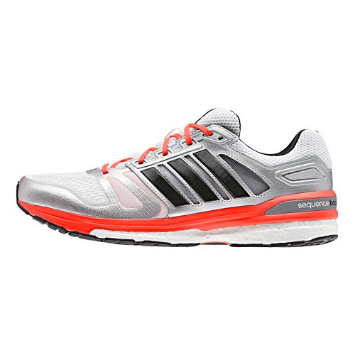 Mens adidas Supernova Sequence 7 Boost Running Shoe - White/Red 8.5