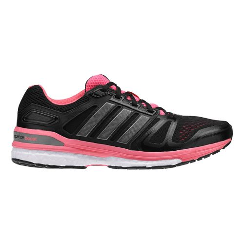 Womens adidas Supernova Sequence 7 Boost Running Shoe - Black/Pink 7.5