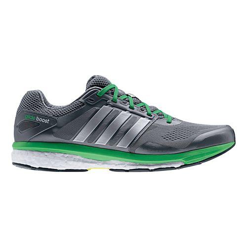 Mens adidas Supernova Glide 7 Boost Running Shoe - Grey/Green 6.5