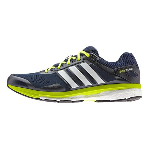 Mens adidas Supernova Glide 7 Boost Running Shoe - Navy/White 8.5