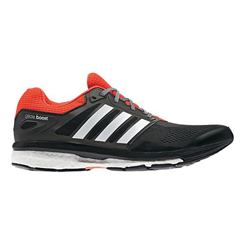 Mens adidas Supernova Glide 7 Boost Running Shoe - Black/Red 13