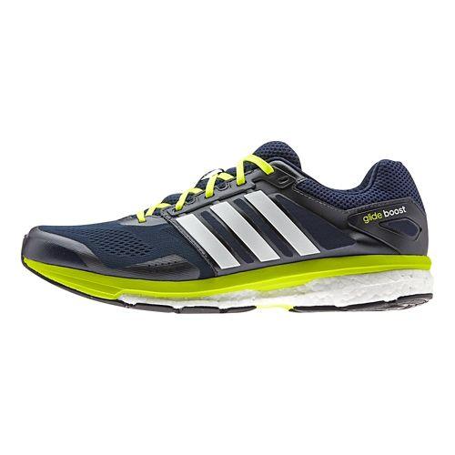 Mens adidas Supernova Glide 7 Boost Running Shoe - Grey/Green 11