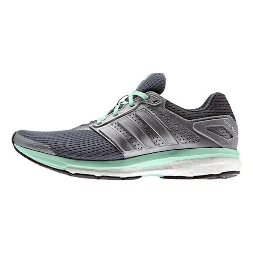 Womens adidas Supernova Glide 7 Boost Running Shoe - Grey/Mint 7.5
