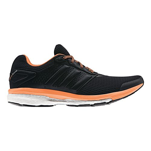 Womens adidas Supernova Glide 7 Boost Running Shoe - Black/Orange 11