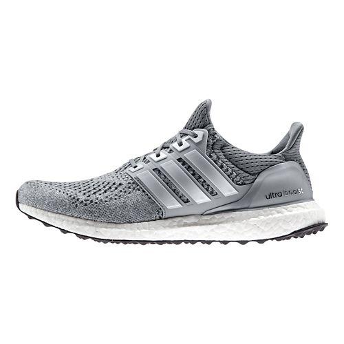 Mens adidas Ultra Boost Running Shoe - Grey/Silver 10
