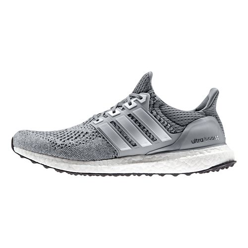 Mens adidas Ultra Boost Running Shoe - Grey/Silver 17
