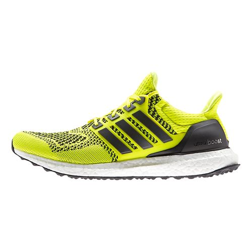 Mens adidas Ultra Boost Running Shoe - Yellow/Black 14