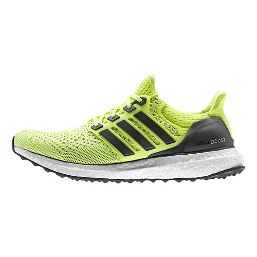 Womens adidas Ultra Boost Running Shoe - Yellow/Indigo 11