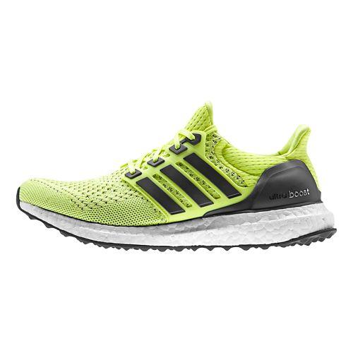 Womens adidas Ultra Boost Running Shoe - Yellow/Indigo 8.5