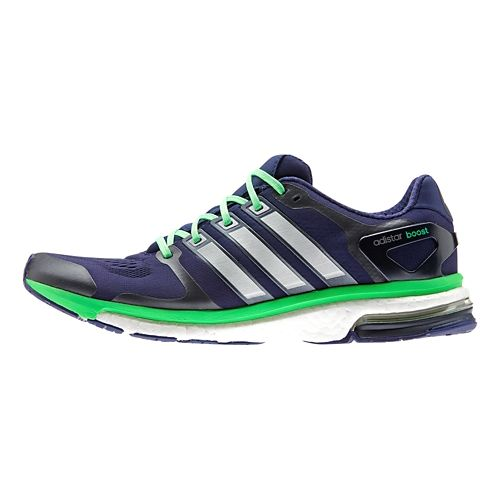 Mens adidas adistar Boost ESM Running Shoe - Indigo/Green 7.5