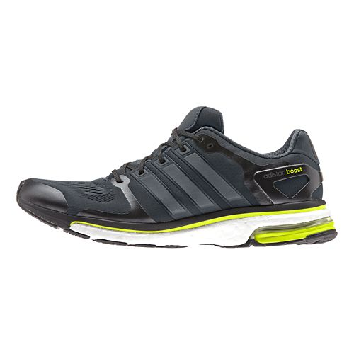 Mens adidas adistar Boost ESM Running Shoe - Dark Gray/Yellow 8.5