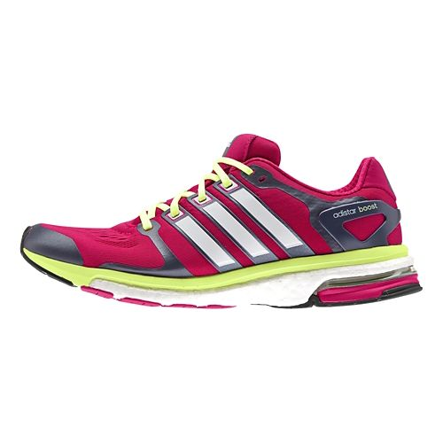 Womens adidas adistar Boost ESM Running Shoe - Pink/Yellow 10