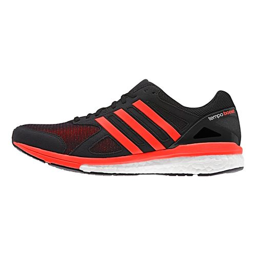 Mens adidas Adizero Tempo 7 Boost Running Shoe - Black/Red 12