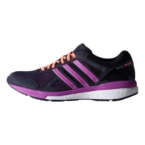 Womens adidas Adizero Tempo 7 Boost Running Shoe - Black/Purple 8.5