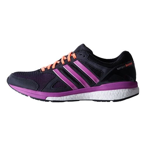 Womens adidas Adizero Tempo 7 Boost Running Shoe - Black/Purple 9