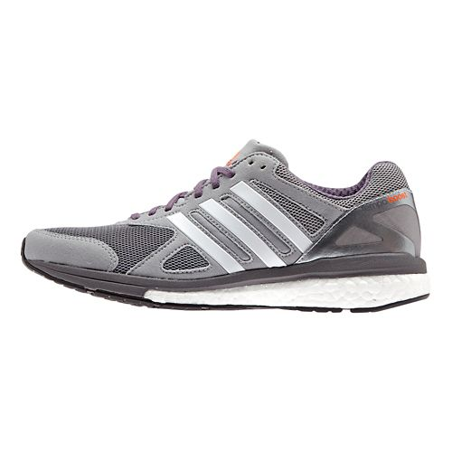 Womens adidas Adizero Tempo 7 Boost Running Shoe - Grey/Purple 9.5