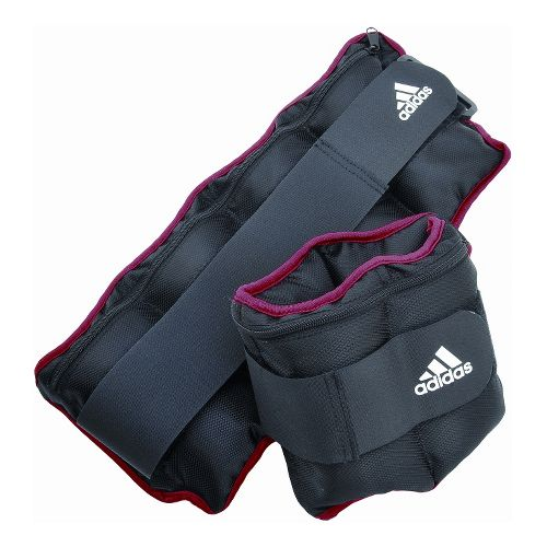 adidas Adjustable Ankle/Wrist Weights 5 lb . Fitness Equipment - Grey/Red