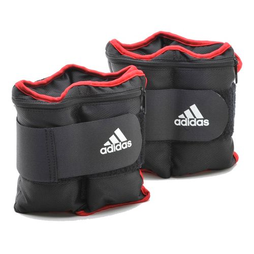 adidas Adjustable Ankle/Wrist Weights 10 lb. Fitness Equipment - Grey/Red