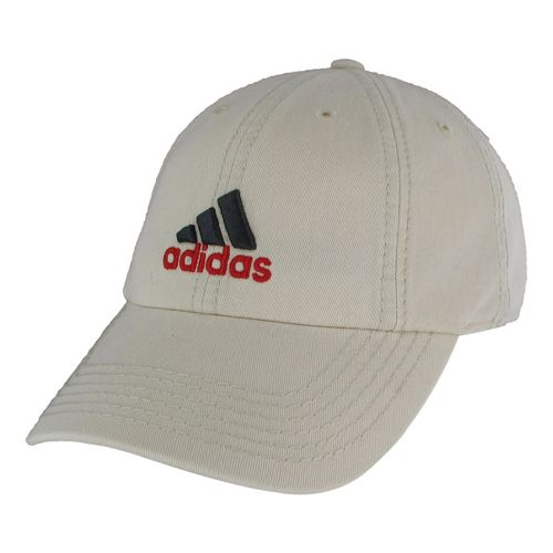 Mens adidas Weekend Warrior Cap Headwear - Bone/Vivid Red