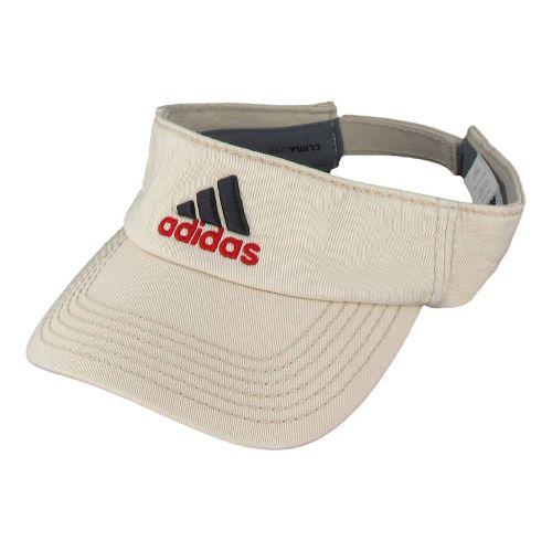 Mens adidas Weekend Warrior Visor Headwear - Bone/Vivid Red