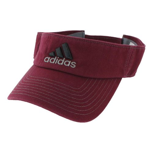Mens adidas Weekend Warrior Visor Headwear - Cardinal/Sharp Grey